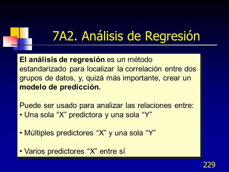 7A2. Análisis de Regresión