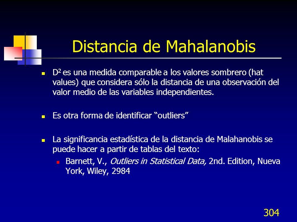 Distancia de Mahalanobis