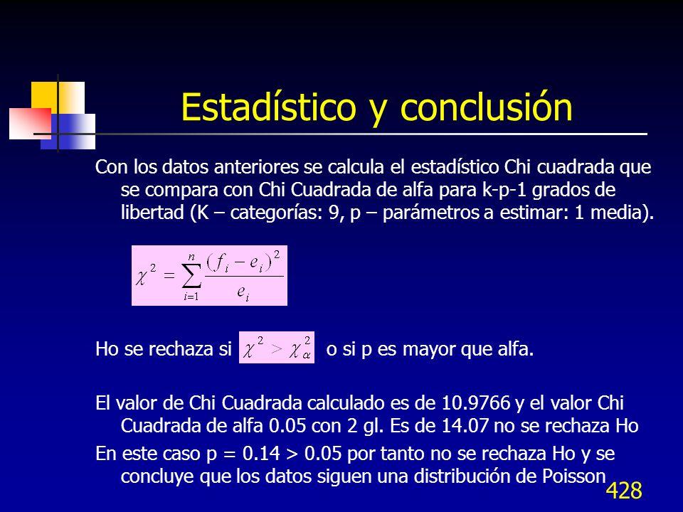 Estadístico y conclusión