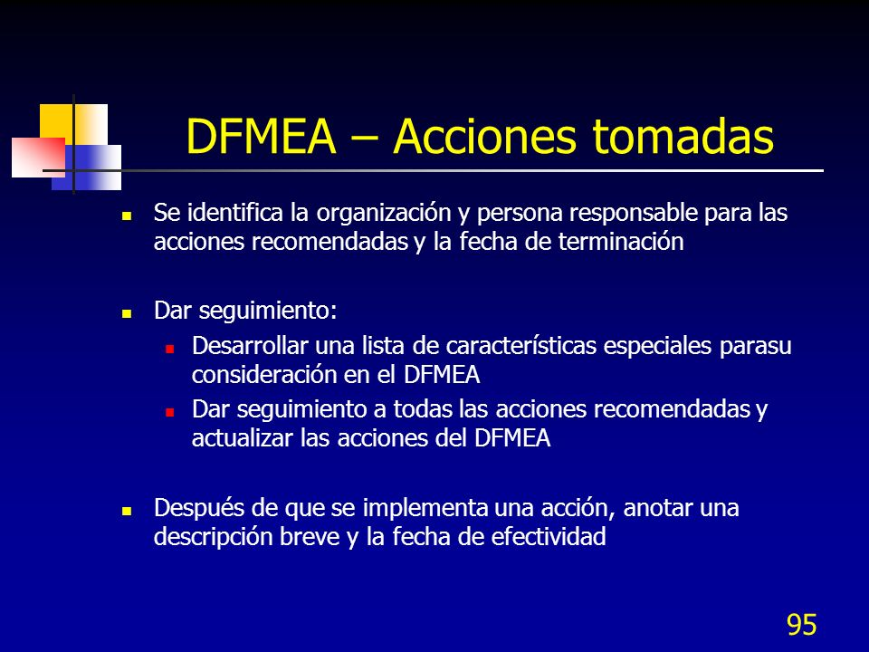 DFMEA – Acciones tomadas