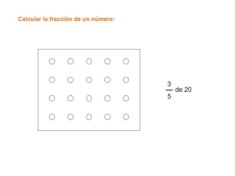Calcular la fracción de un número: