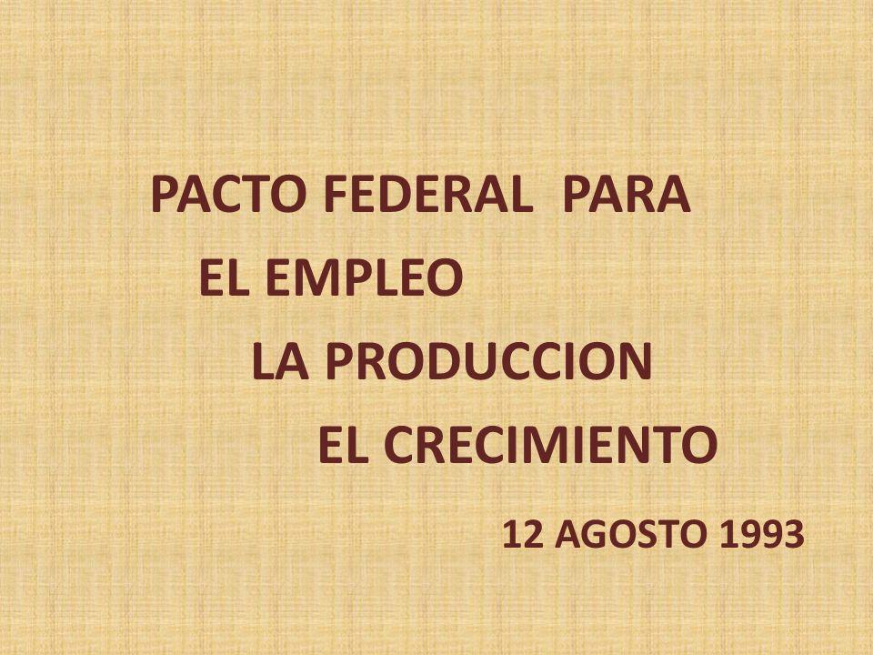 EL EMPLEO LA PRODUCCION EL CRECIMIENTO 12 AGOSTO 1993
