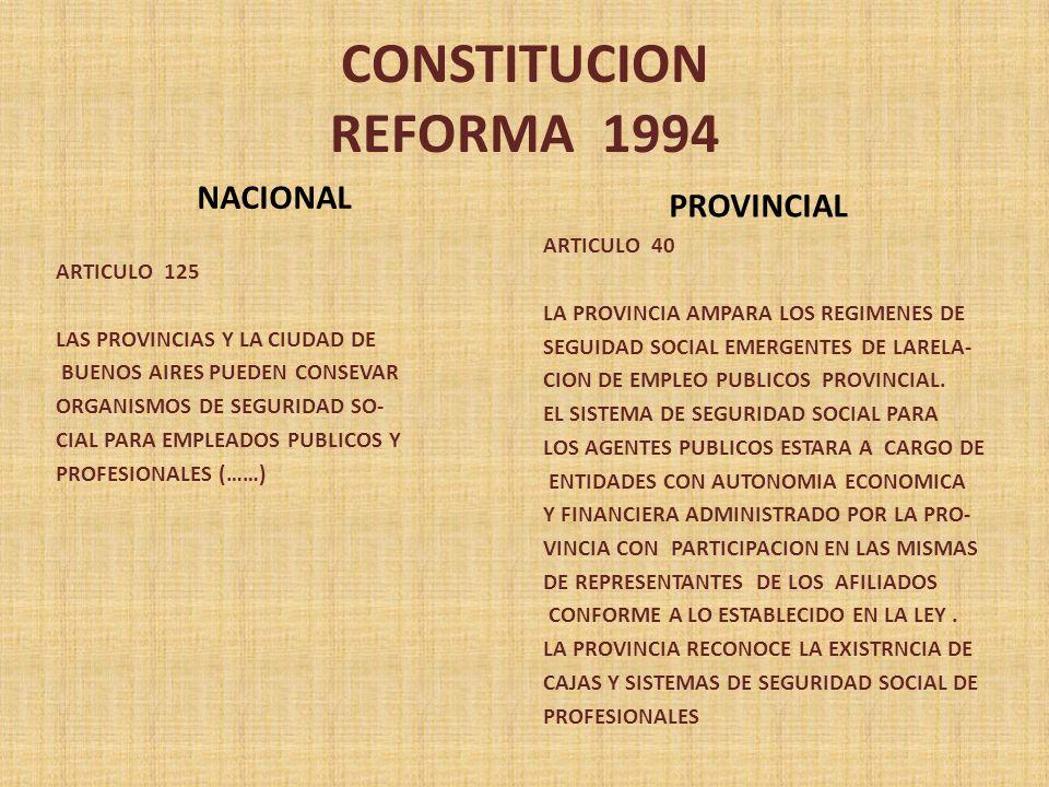 CONSTITUCION REFORMA 1994 NACIONAL PROVINCIAL ARTICULO 40 ARTICULO 125