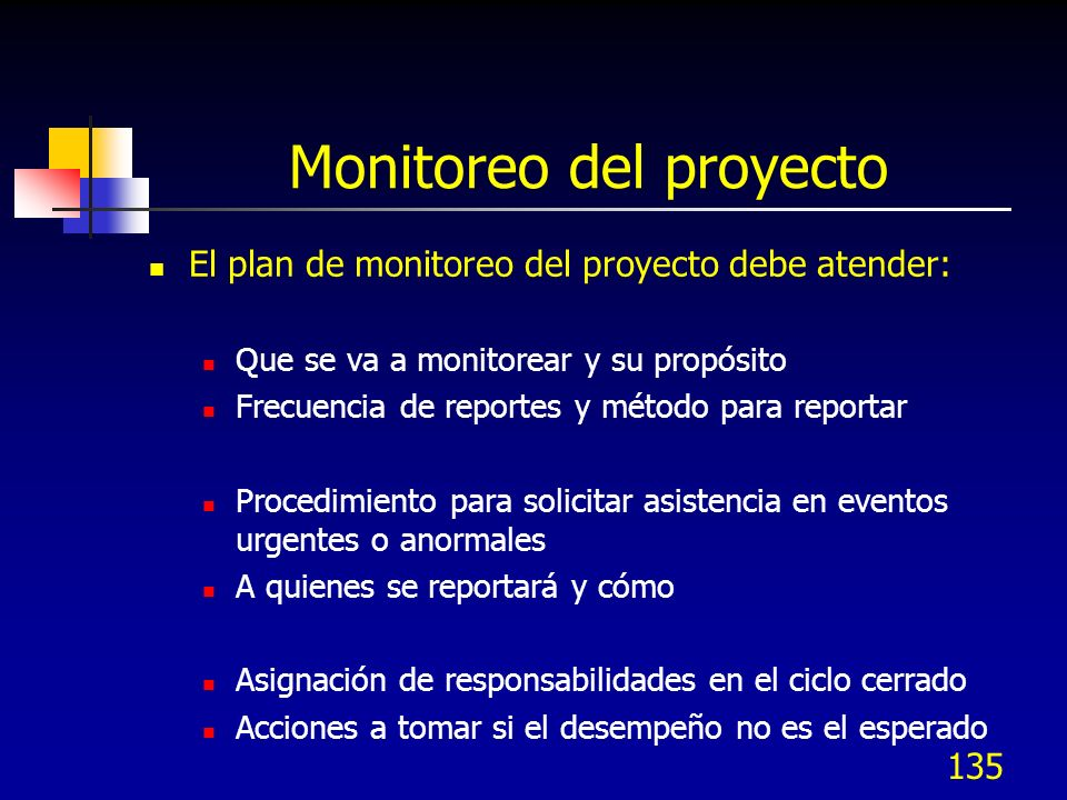 Monitoreo del proyecto