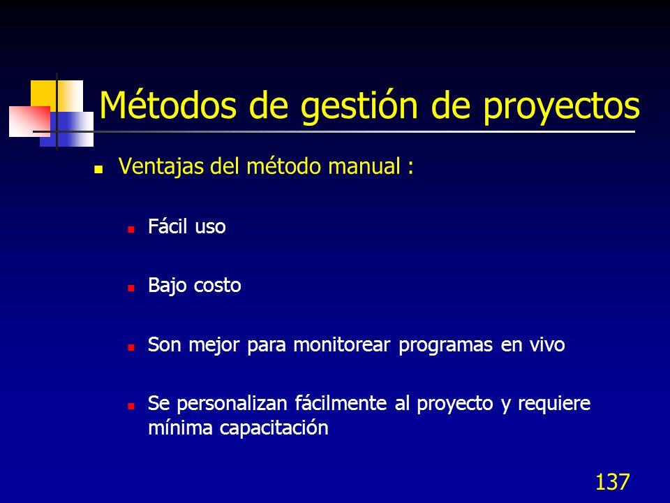 Métodos de gestión de proyectos