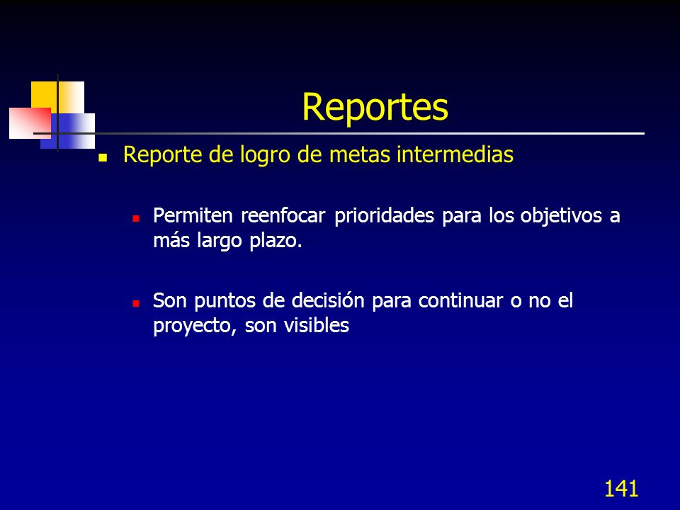 Reportes Reporte de logro de metas intermedias