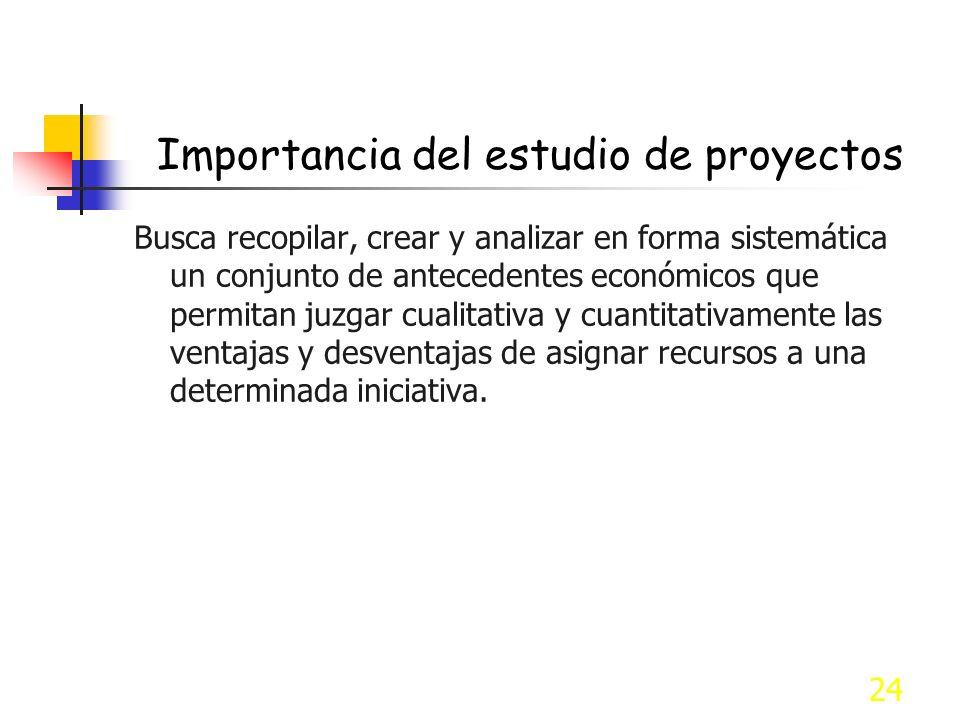 Importancia del estudio de proyectos