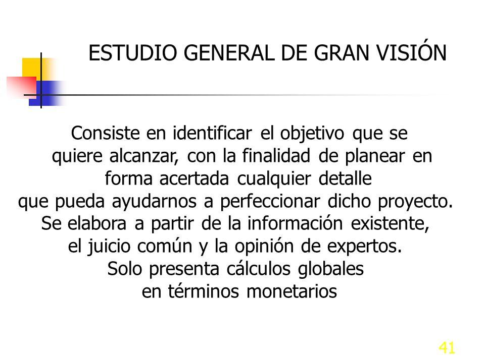 ESTUDIO GENERAL DE GRAN VISIÓN