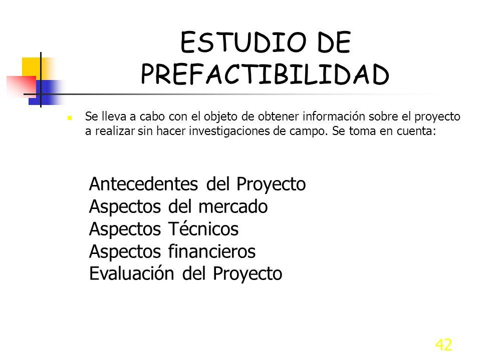 ESTUDIO DE PREFACTIBILIDAD