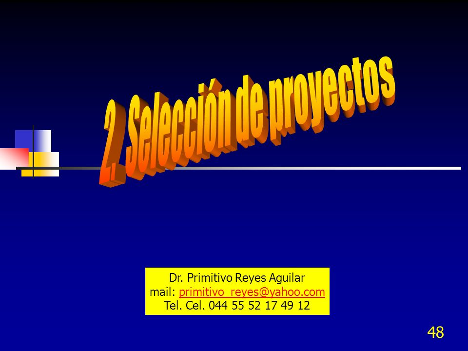 2. Selección de proyectos