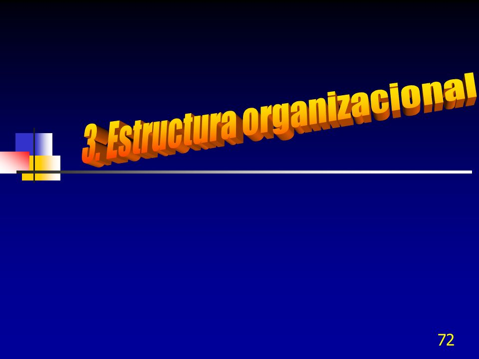 3. Estructura organizacional