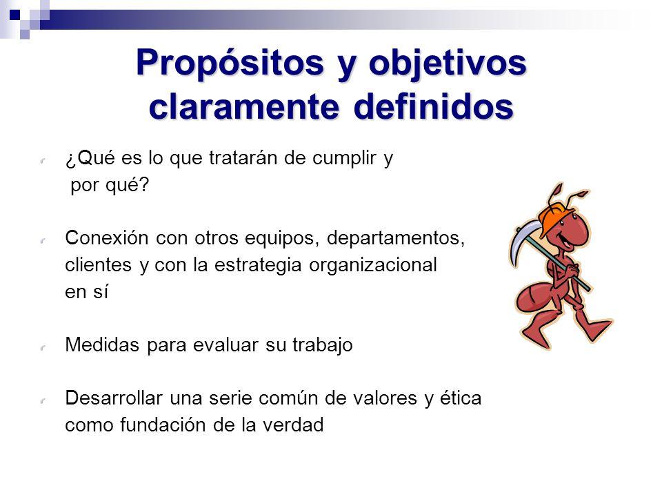 Propósitos y objetivos claramente definidos