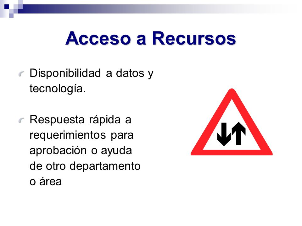 Acceso a Recursos Disponibilidad a datos y tecnología.