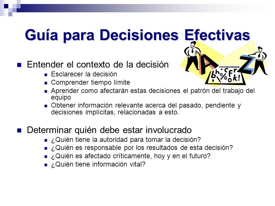 Guía para Decisiones Efectivas