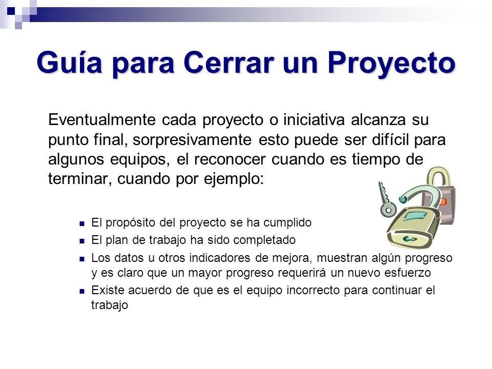 Guía para Cerrar un Proyecto