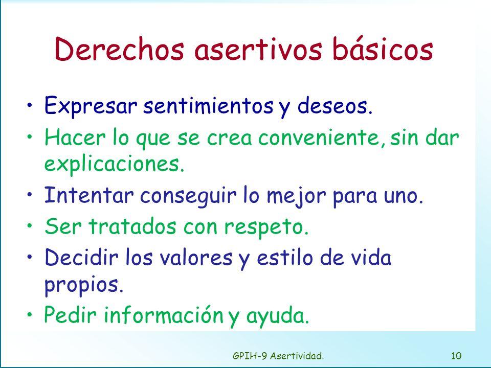 Derechos asertivos básicos