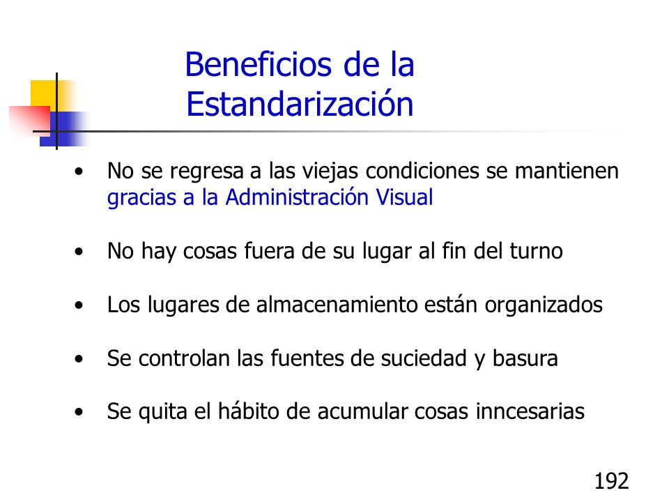 Beneficios de la Estandarización