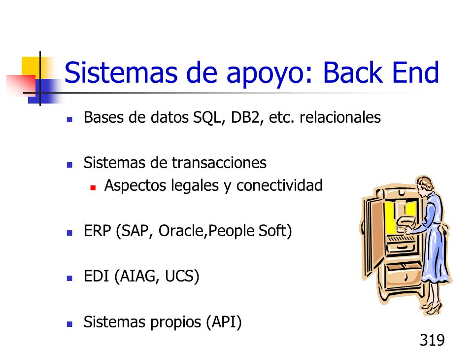Sistemas de apoyo: Back End