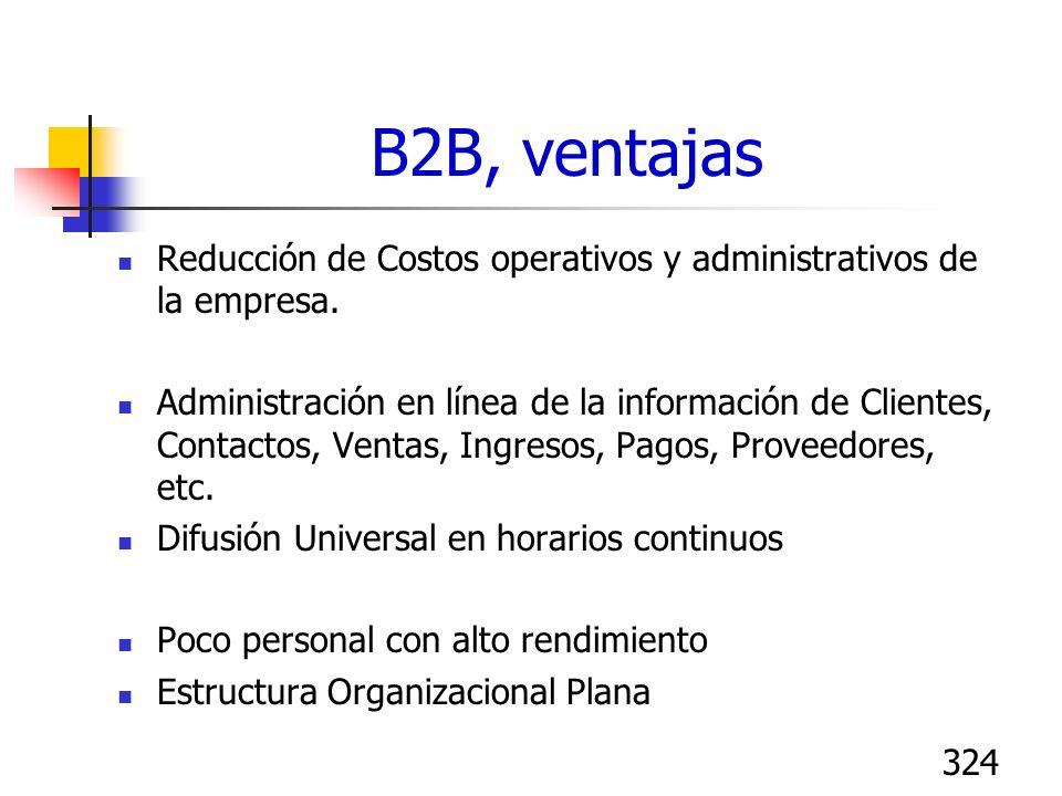 B2B, ventajasReducción de Costos operativos y administrativos de la empresa.