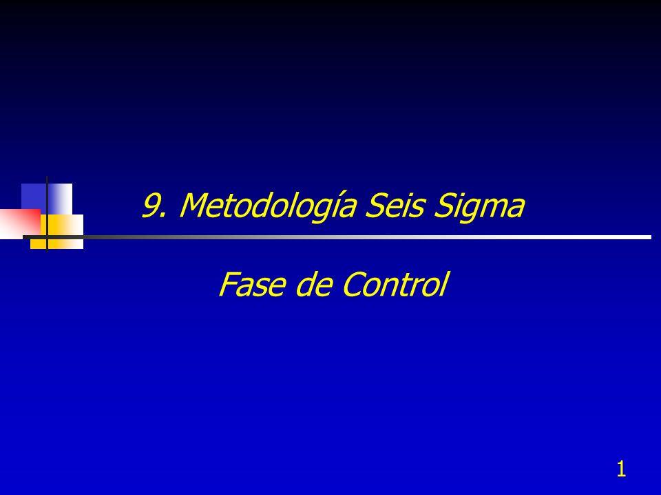 9. Metodología Seis Sigma Fase de Control
