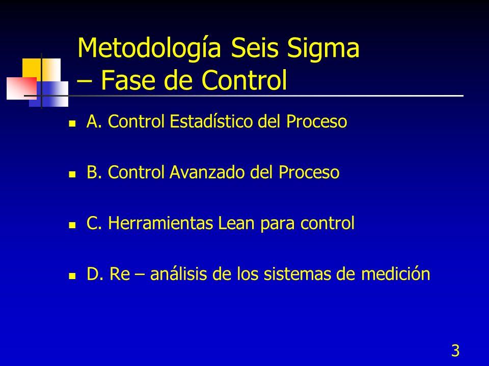 Metodología Seis Sigma – Fase de Control