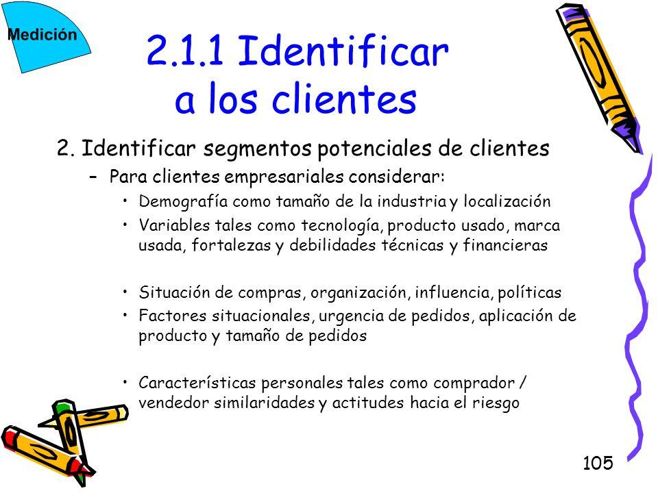 2.1.1 Identificar a los clientes