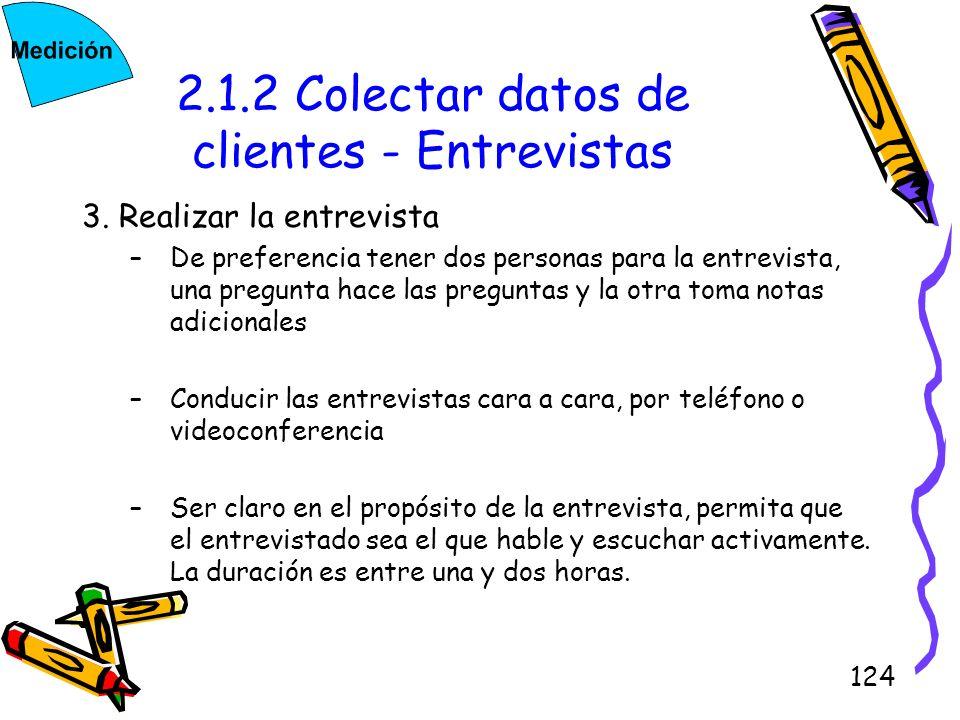 2.1.2 Colectar datos de clientes - Entrevistas