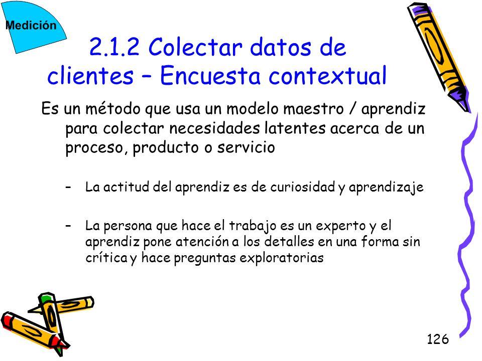 2.1.2 Colectar datos de clientes – Encuesta contextual