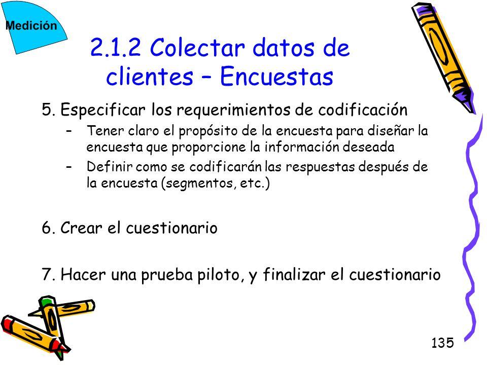 2.1.2 Colectar datos de clientes – Encuestas