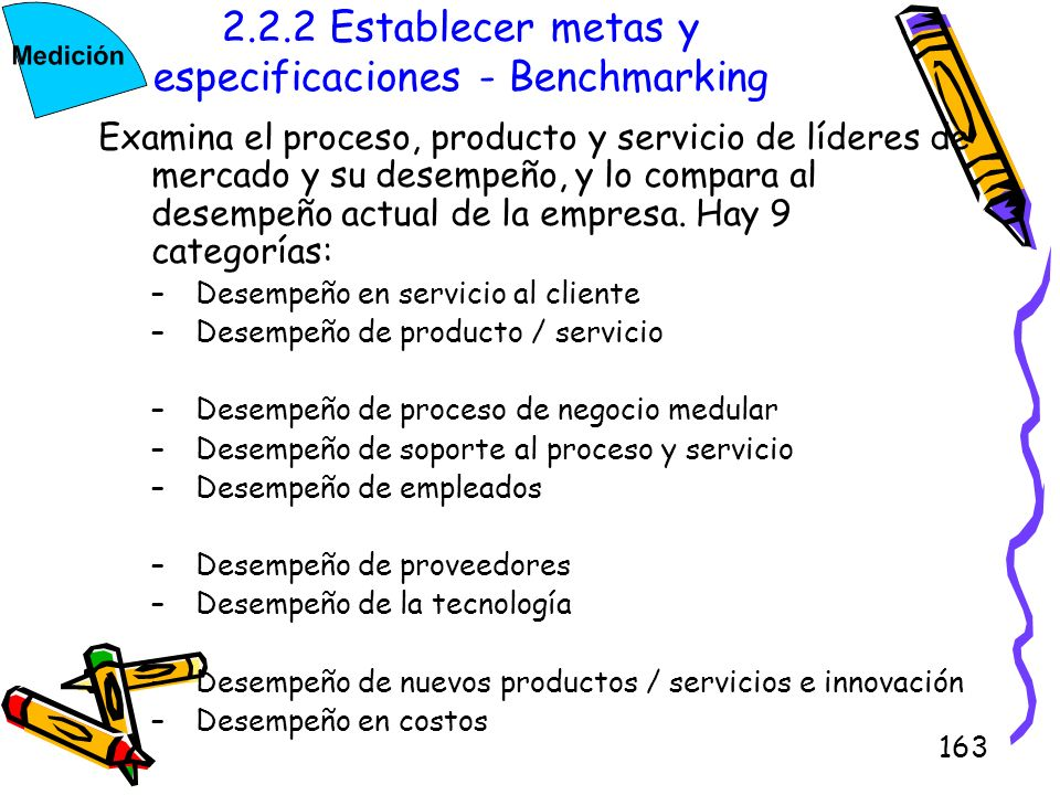 2.2.2 Establecer metas y especificaciones - Benchmarking