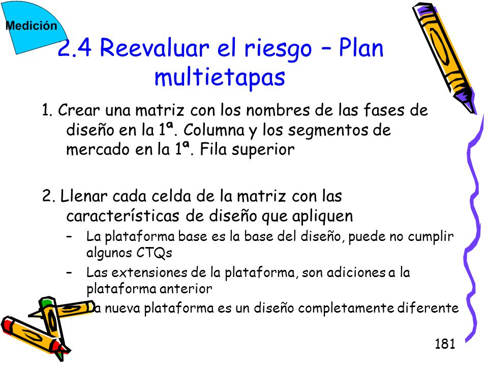 2.4 Reevaluar el riesgo – Plan multietapas
