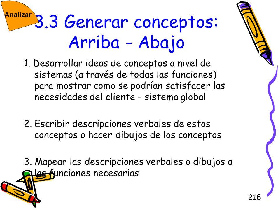 3.3 Generar conceptos: Arriba - Abajo