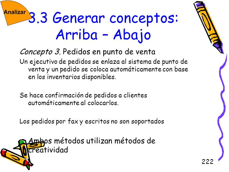 3.3 Generar conceptos: Arriba – Abajo