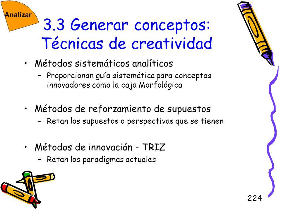 3.3 Generar conceptos: Técnicas de creatividad