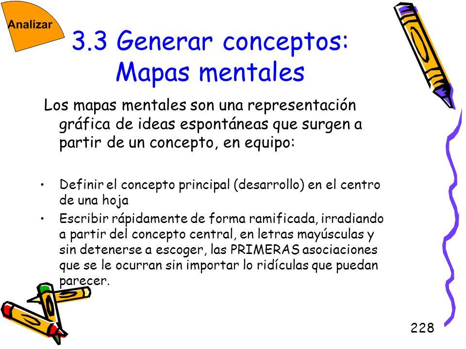 3.3 Generar conceptos: Mapas mentales