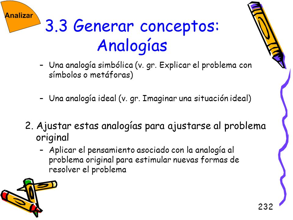 3.3 Generar conceptos: Analogías
