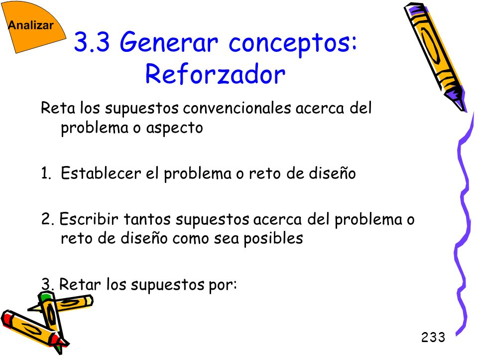 3.3 Generar conceptos: Reforzador