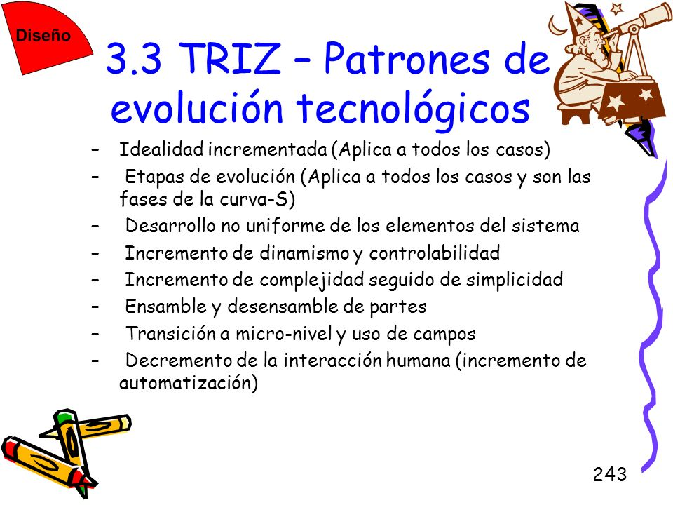 3.3 TRIZ – Patrones de evolución tecnológicos