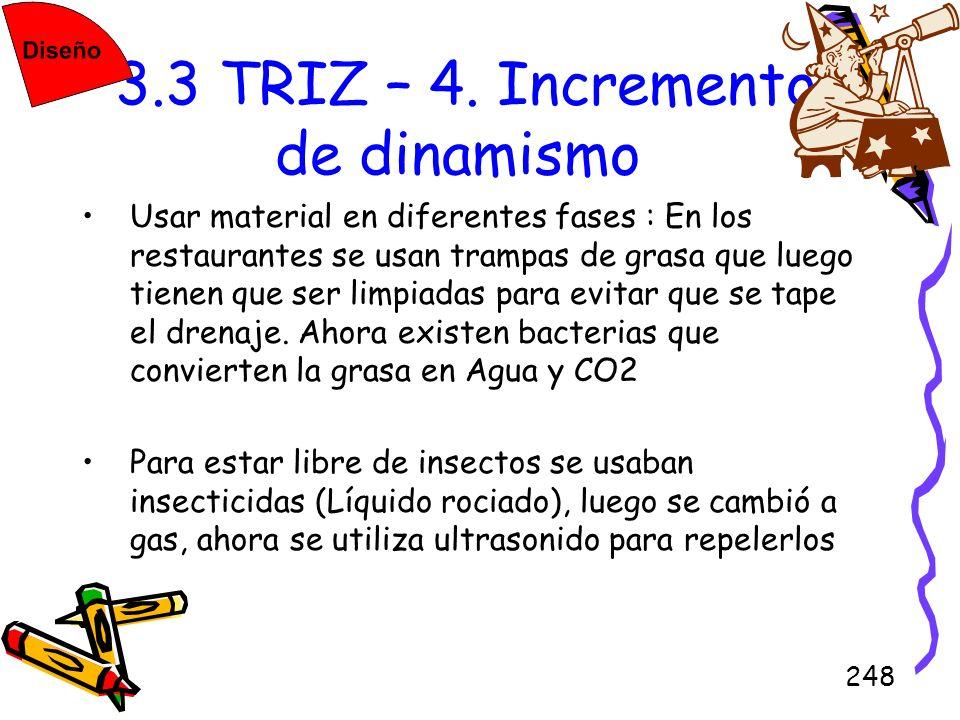3.3 TRIZ – 4. Incremento de dinamismo