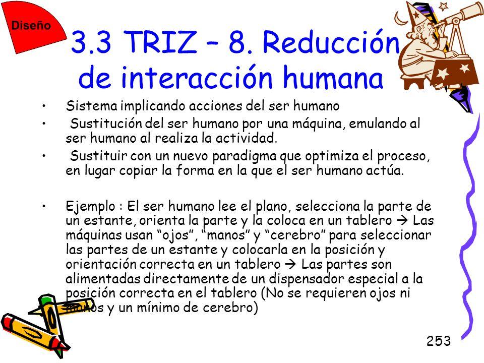 3.3 TRIZ – 8. Reducción de interacción humana