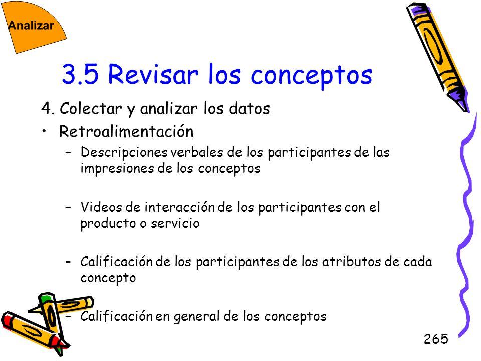 3.5 Revisar los conceptos 4. Colectar y analizar los datos