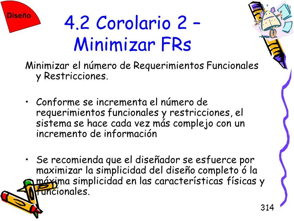 4.2 Corolario 2 – Minimizar FRs