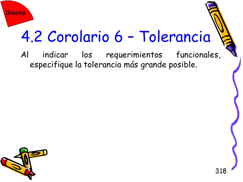 4.2 Corolario 6 – Tolerancia