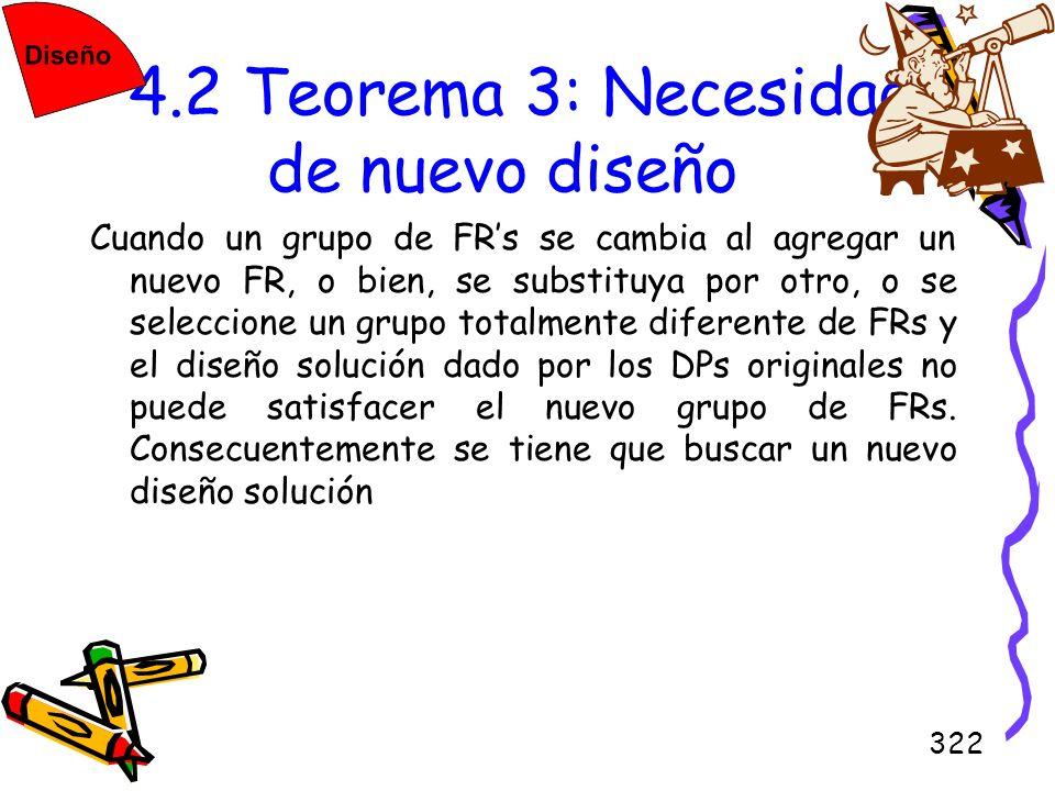 4.2 Teorema 3: Necesidad de nuevo diseño