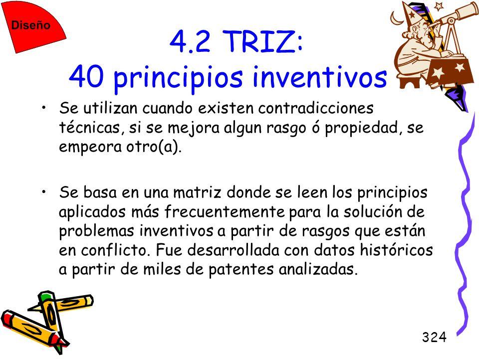 4.2 TRIZ: 40 principios inventivos