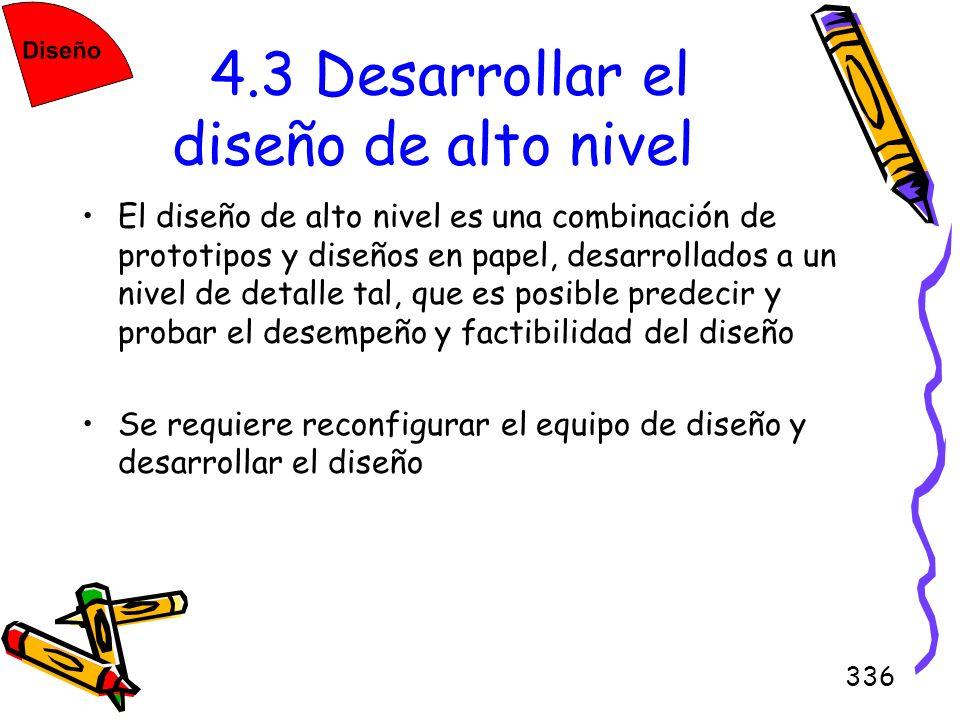 4.3 Desarrollar el diseño de alto nivel