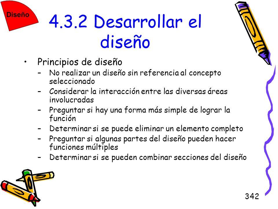 4.3.2 Desarrollar el diseño Principios de diseño