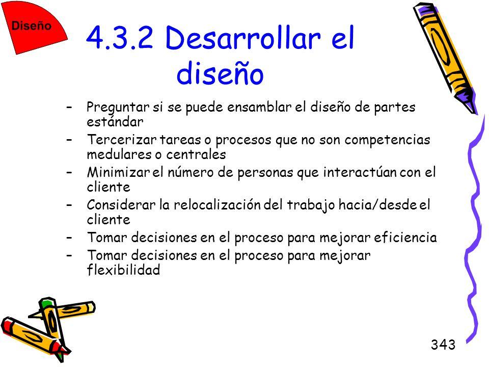 4.3.2 Desarrollar el diseñoPreguntar si se puede ensamblar el diseño de partes estándar.