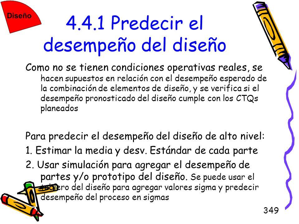 4.4.1 Predecir el desempeño del diseño