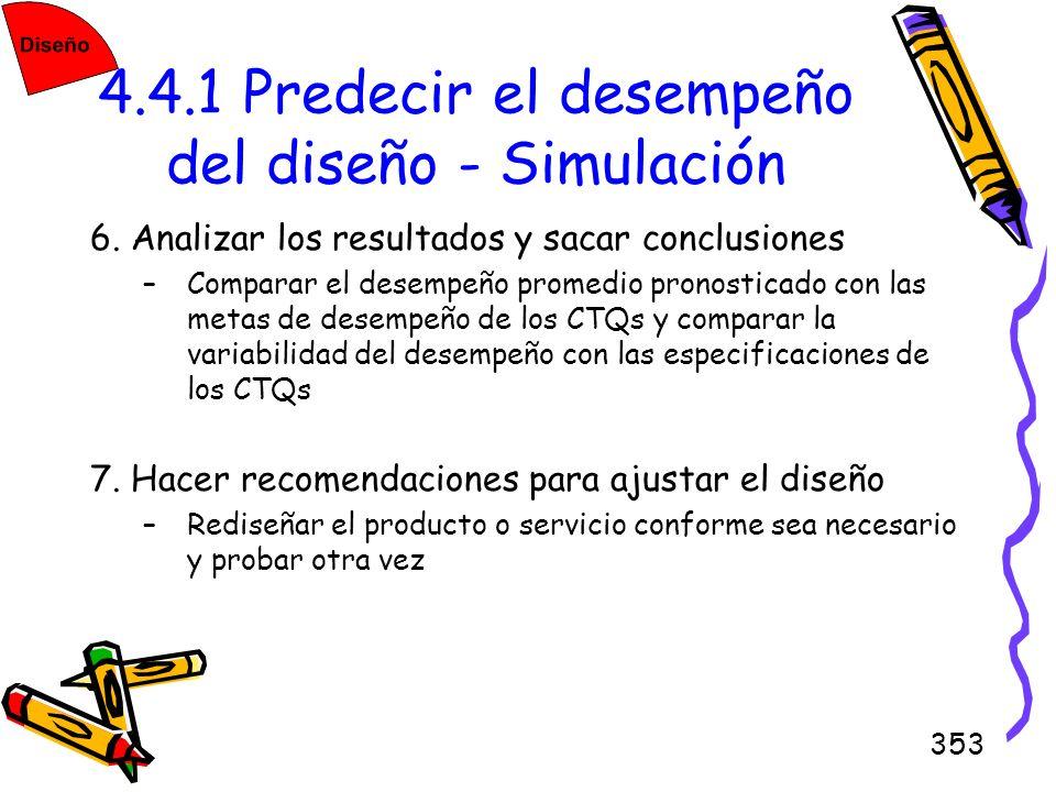 4.4.1 Predecir el desempeño del diseño - Simulación
